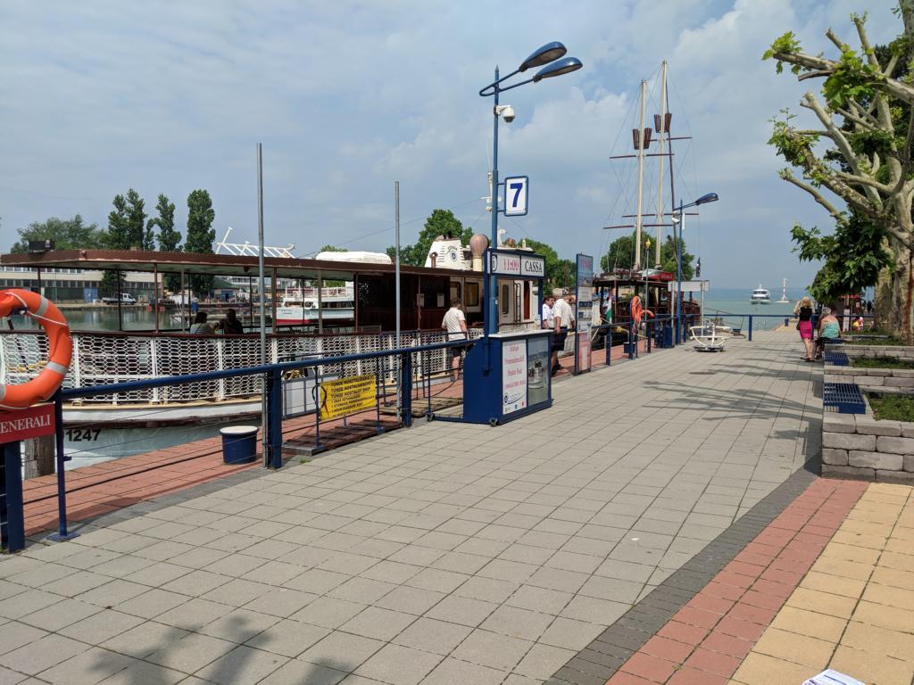 Blick auf den Hafen von Siofök